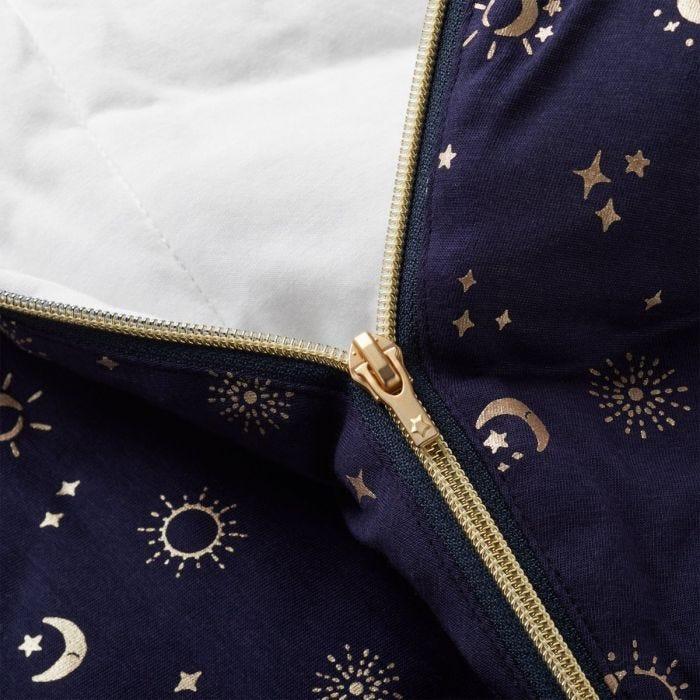 The Original Grobag Moon Child Sleepbag showing zip
