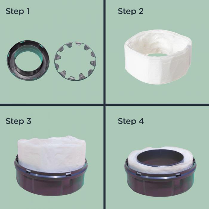 Twist & Click Nappy Bin Eco-Refills - Infographic