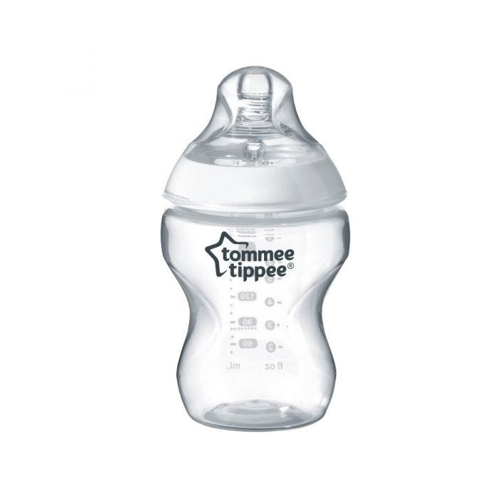 Tommee Tippee Closer to Nature baby bottle with lid