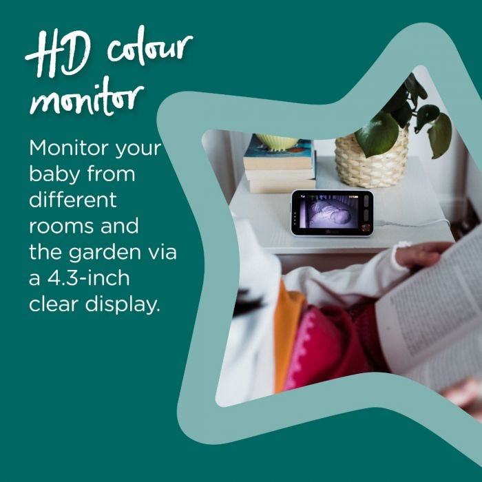 HD Colour monitor infographic