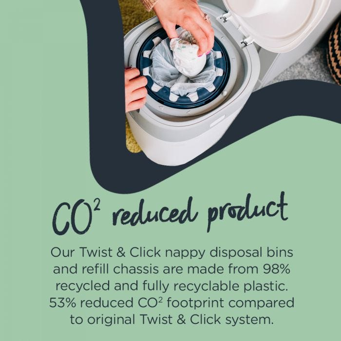 Twist & Click Nappy Disposal Bin - infographic