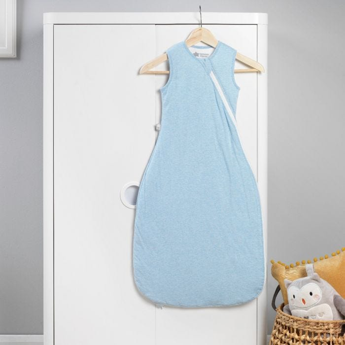 The Original Grobag Blue Marl Sleepbag hanging up
