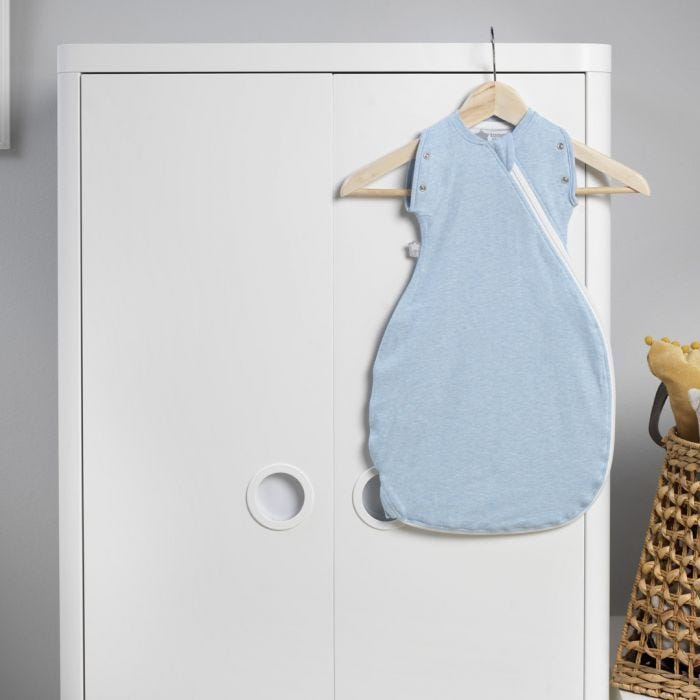 Sleepee Snuggee, Blue Marl hanging in nursery