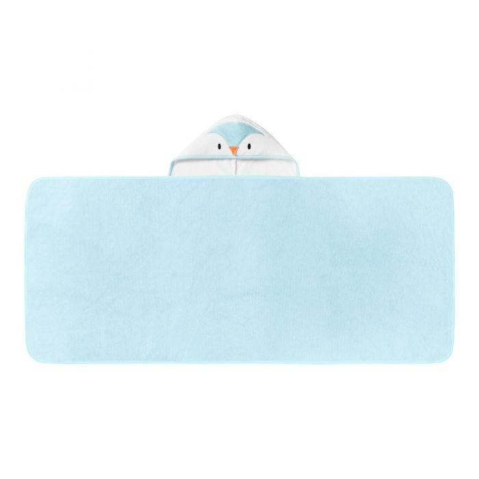 Splashtime hug 'n' dry hooded towel - blue opened