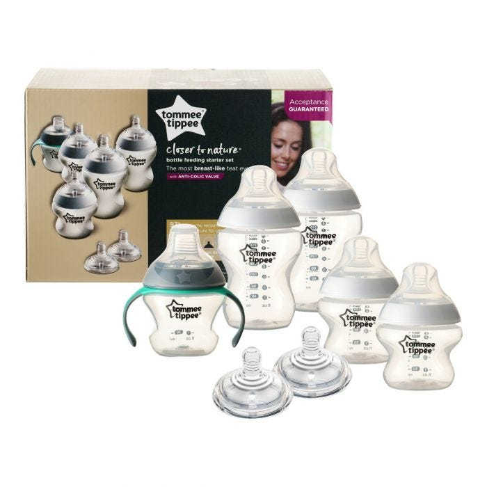 bottle feeding starter kit with packaging