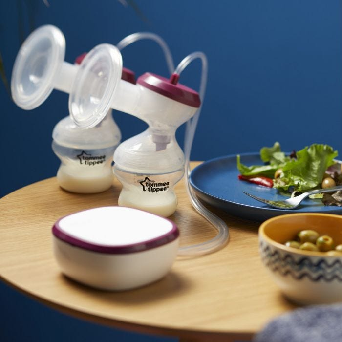 Made for Me Double electric Breast Pump on table