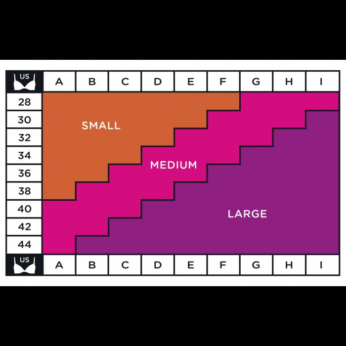 Breast pad size chart