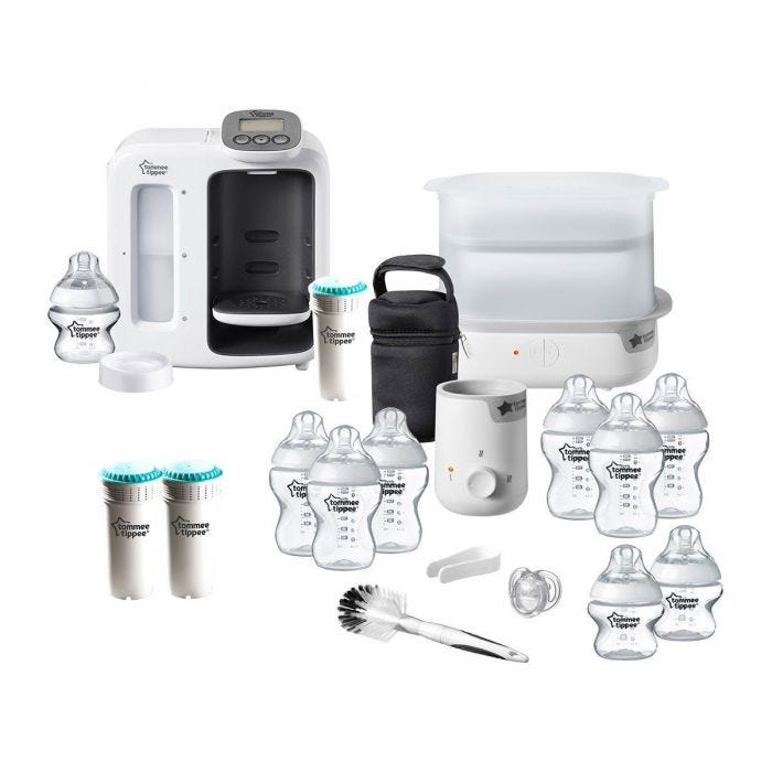 closer to nature essentials starter set in either black or white including perfect prep day and night 3 replacement fillers and 1 essentials kit