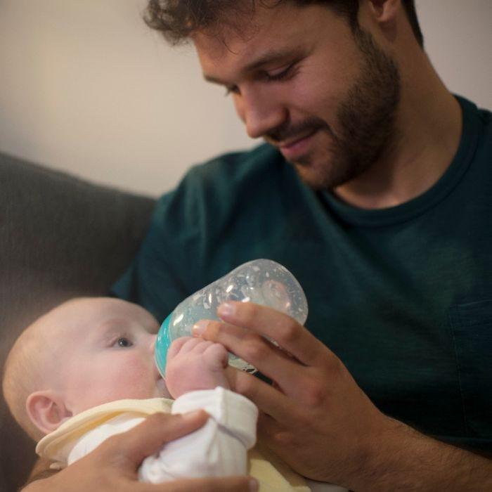 Dad feeding with Advanced Anti-Colic Baby Bottle