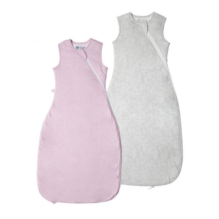 The Original Grobag Pink & Grey Marl Sleepbag Twin Pack 6-18/18-36m