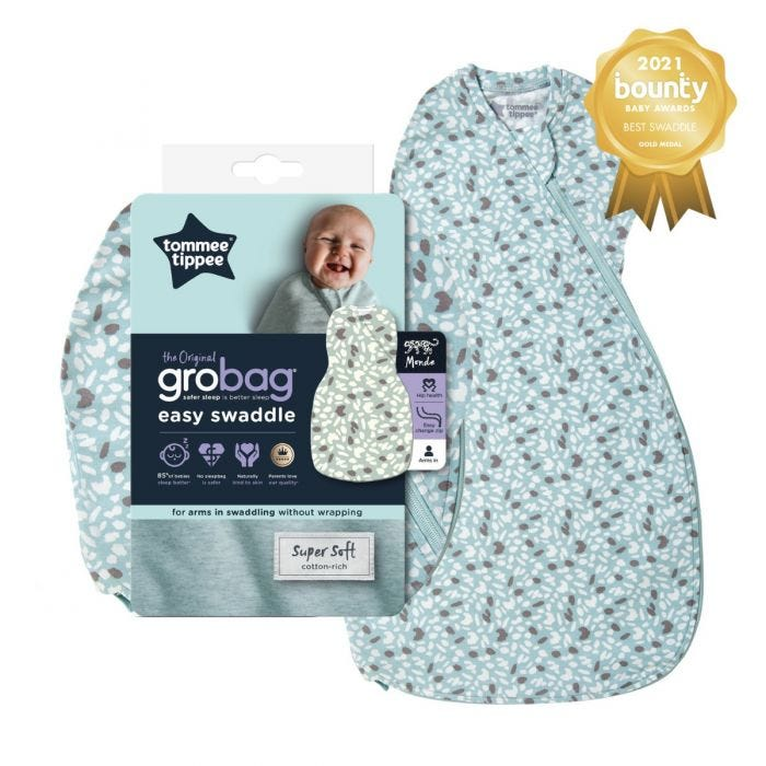 The original grobag easy swaddle earth green