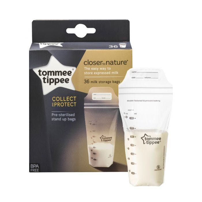 Clear Breast Milk Storage Bags with packaging
