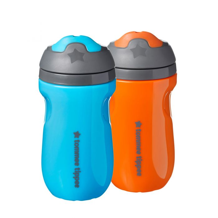 Insulated sippee 2 pack - blue orange