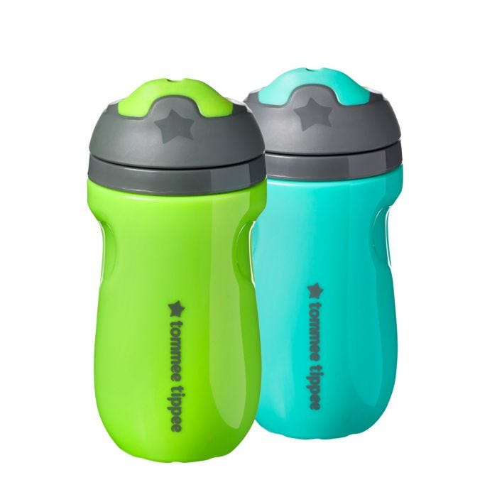 Insulated sippee 2 pack - green teal