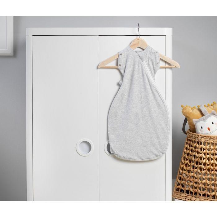 The Original Grobag Grey Marl Snuggle hanging up