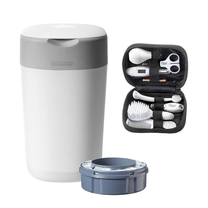 Nappy bin and healthcare kit