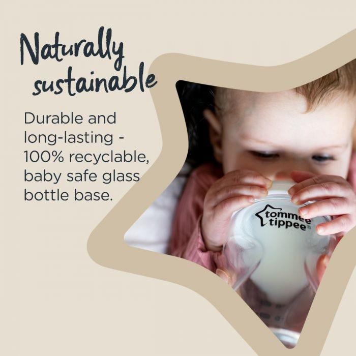 CTN glass baby bottle infographic