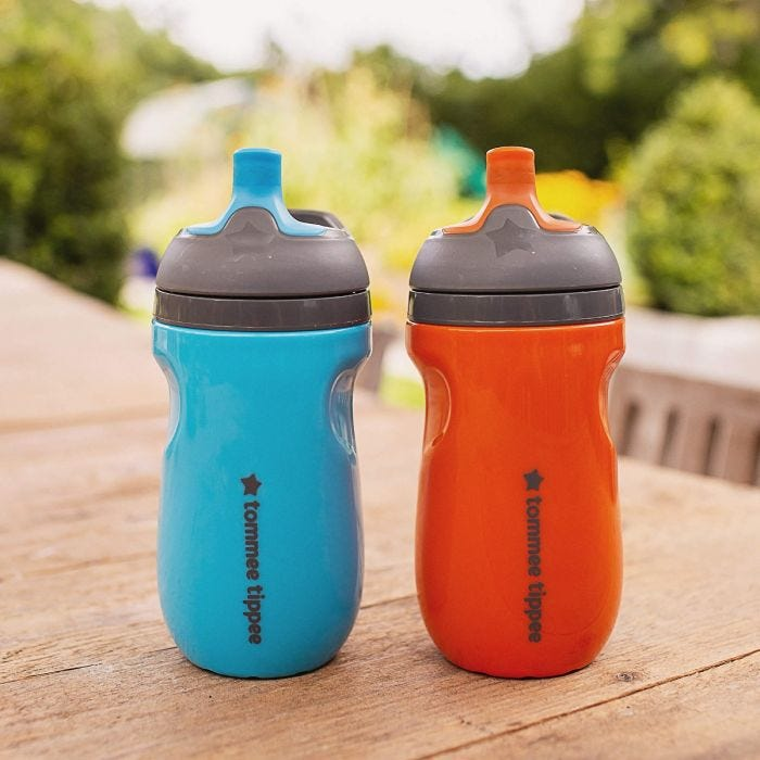 Insulated Sippee Bottles on table