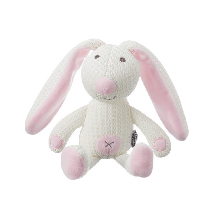 Betty Bunny Pink Tommee Tippee Breathable Toy front on view