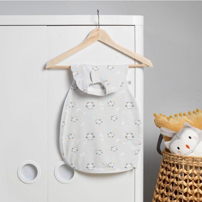 Little Ollie Easy Swaddle hanging on wardrobe