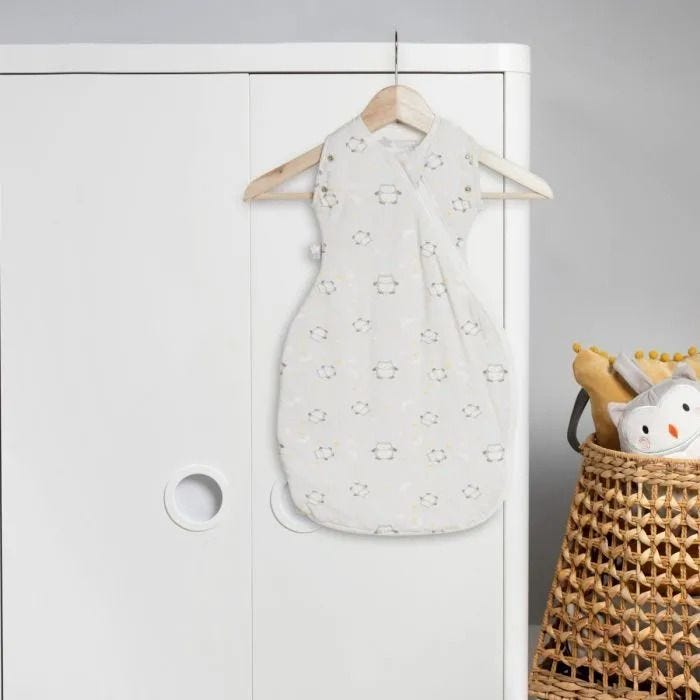 Little Ollie Grobag Snuggle hanging from wardrobe in nursery