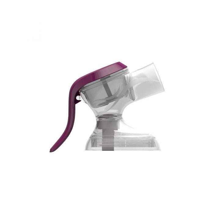 Made for me manual breast pump head side shot