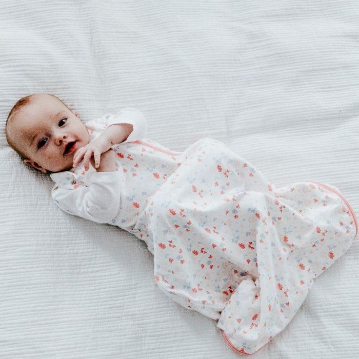 Baby wearing Original Grobag Pretty Petals Snuggle