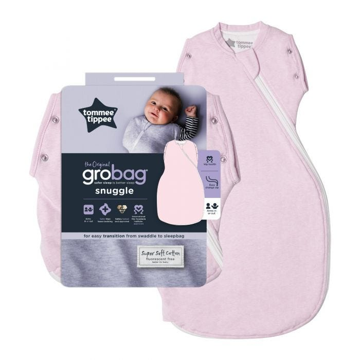 Pink Marl Grobag Snuggle with packaging