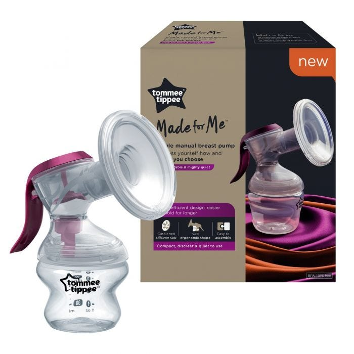 Made for me manual breast pump  with packaging