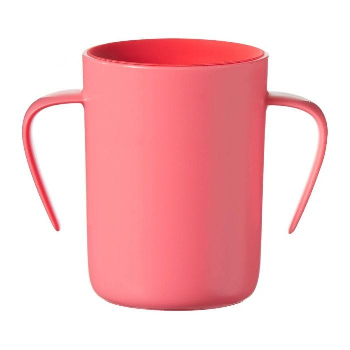 red easi flow cup with handles