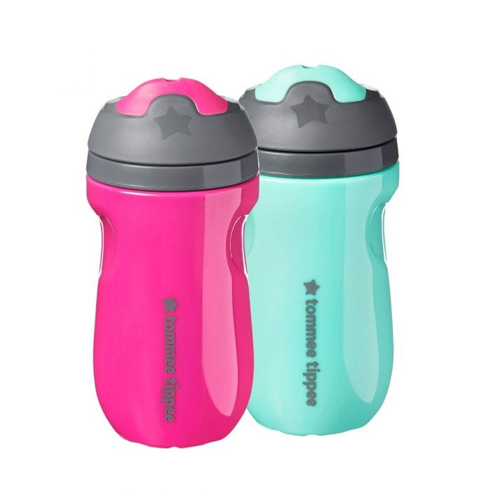 Insulated sippee 2 pack - pink green