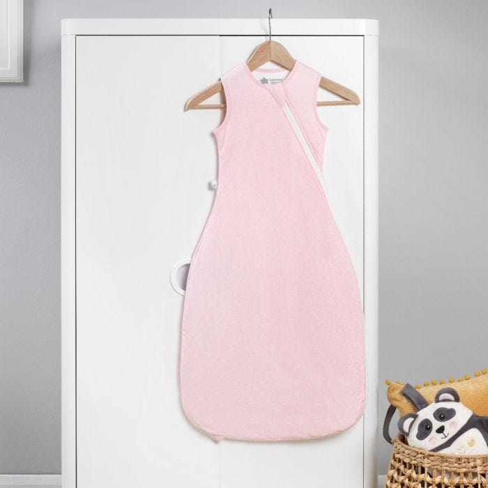 The Original Grobag Pink Marl Sleepbag hanging up
