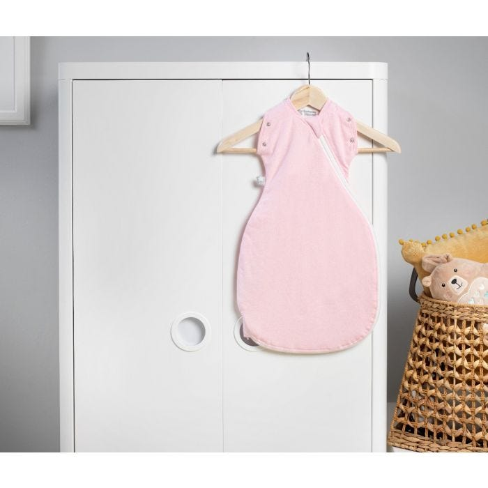 The Original Grobag Pink Marl Snuggle hanging up