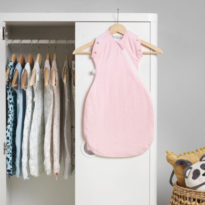 Sleepee Snuggee, Pink Marl hanging on wardrobe