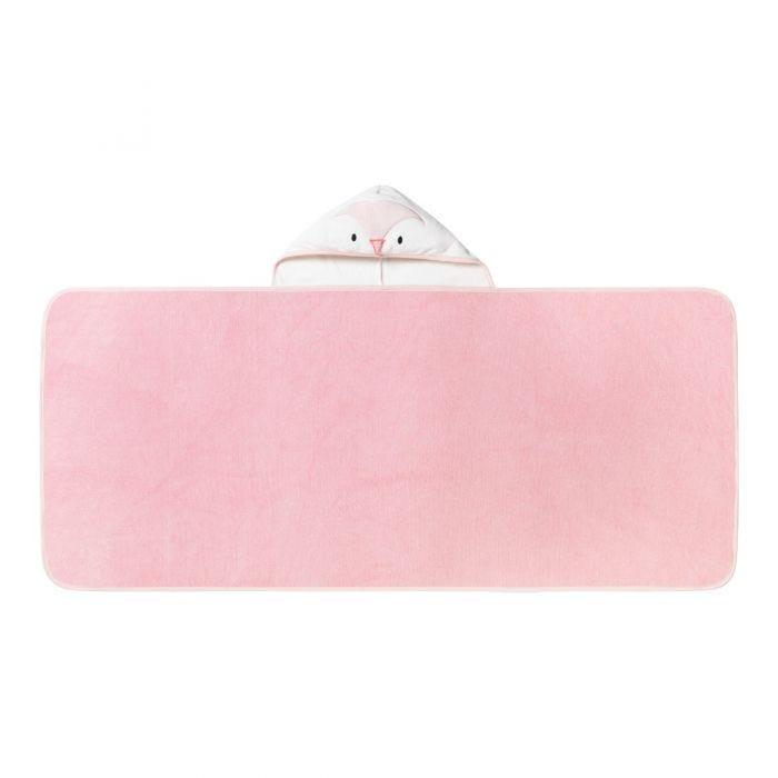 Splashtime hug 'n' dry hooded towel -pink opened