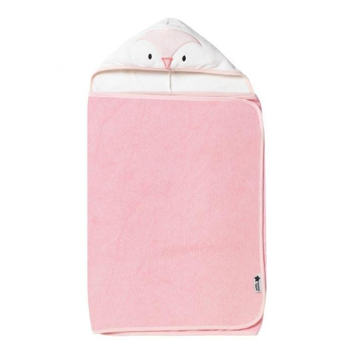 Splashtime hug 'n' dry hooded towel - pink