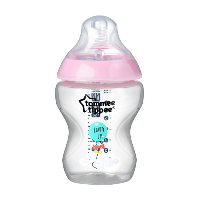 Closer to Nature Loved Up Baby Bottle - single image