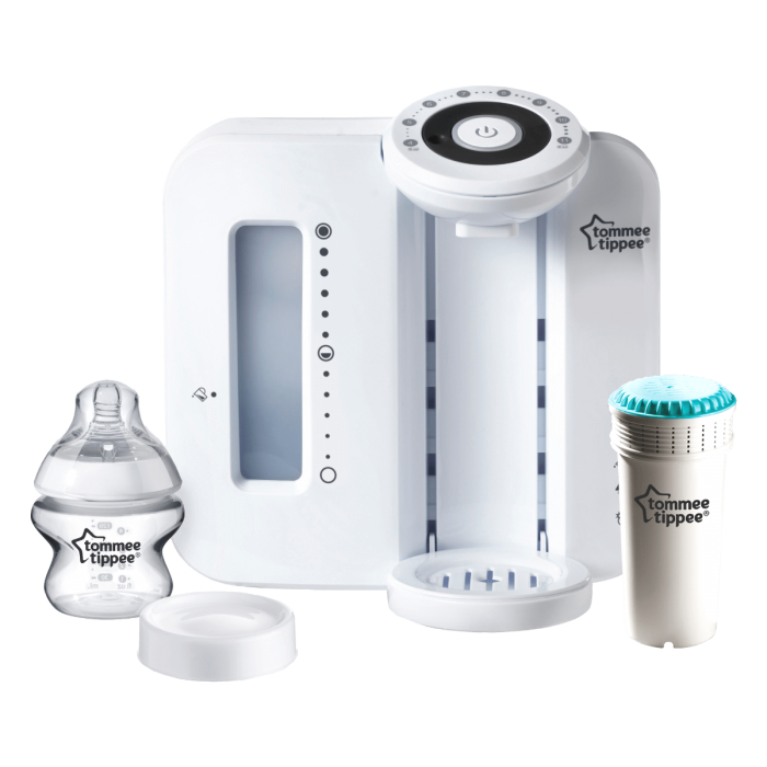 White-Perfect-Prep-Machine-with-150ml-Closer-to-Nature-bottle-one-filter-and-bottle-lid
