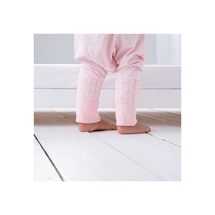 child standingwearing GroRomper - Scandi Harvest Pink