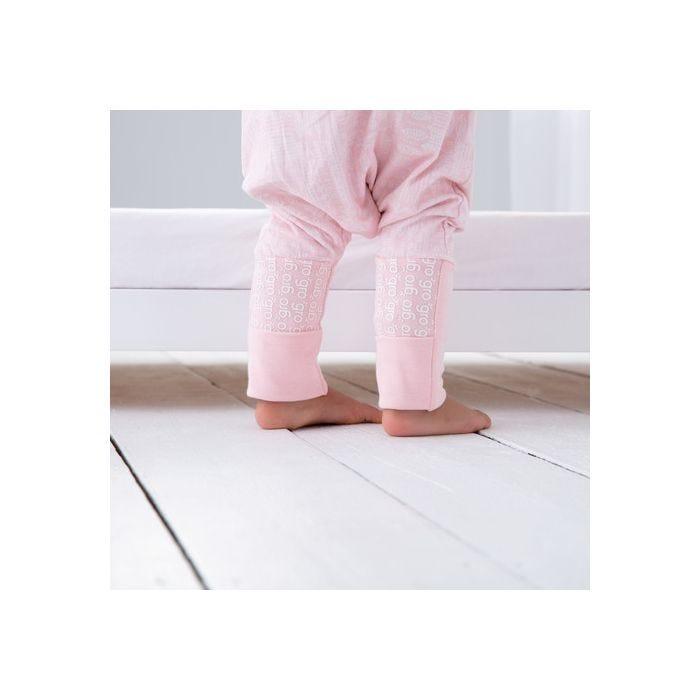 child standing wearing GroRomper - Scandi Harvest Pink