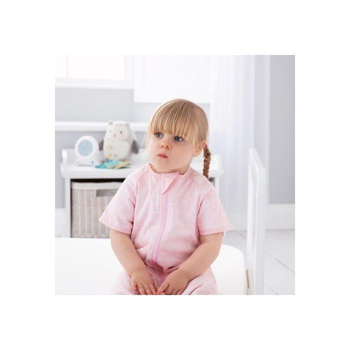 child sitting wearing GroRomper - Scandi Harvest Pink