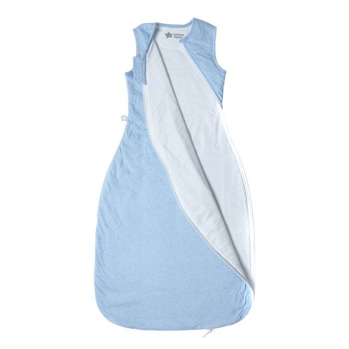 Blue Marl Grobag Sleepbag open zip