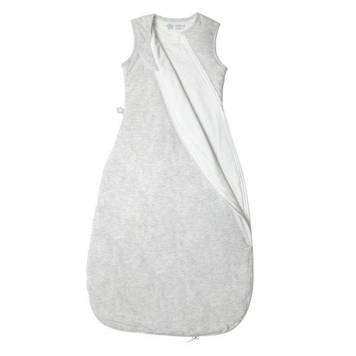 The Original Grobag Grey Marl Sleepbag zip open