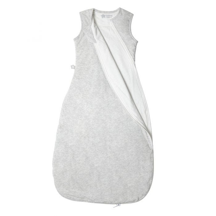 The Original Grobag Grey Marl Sleepbag zip open