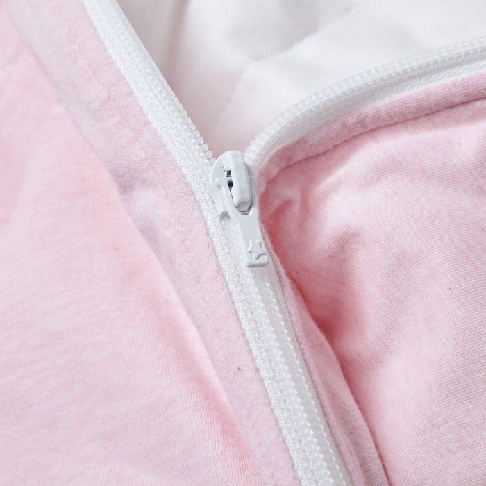 The Original Grobag Pink Marl Sleepbag zip