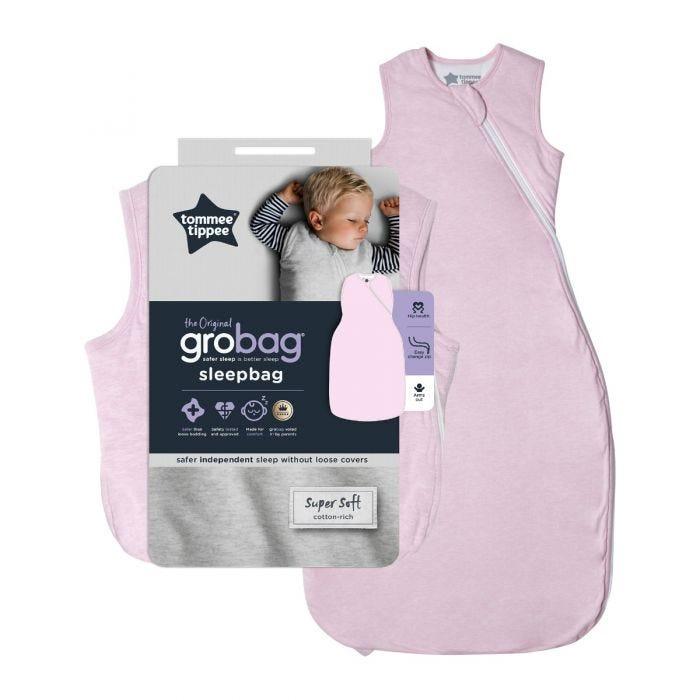 The Original Grobag Pink Marl Sleepbag with packaging