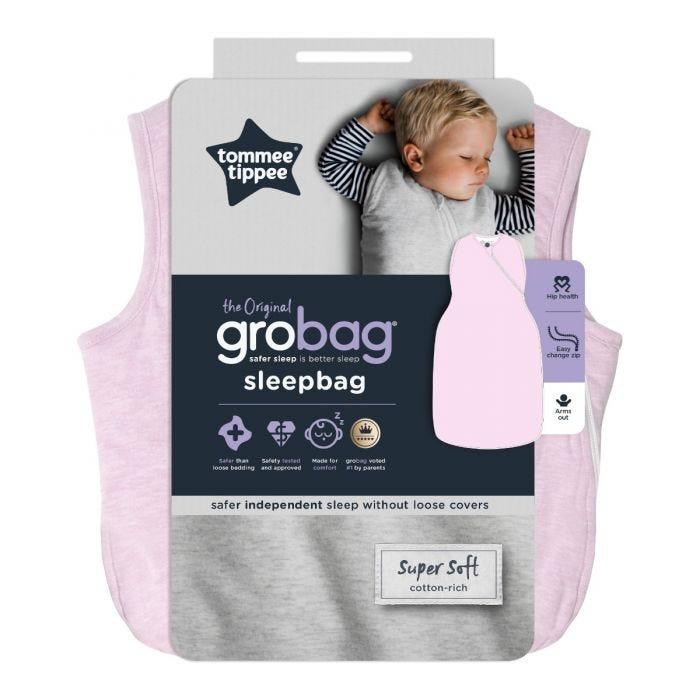 The Original Grobag Pink Marl Sleepbag packaging