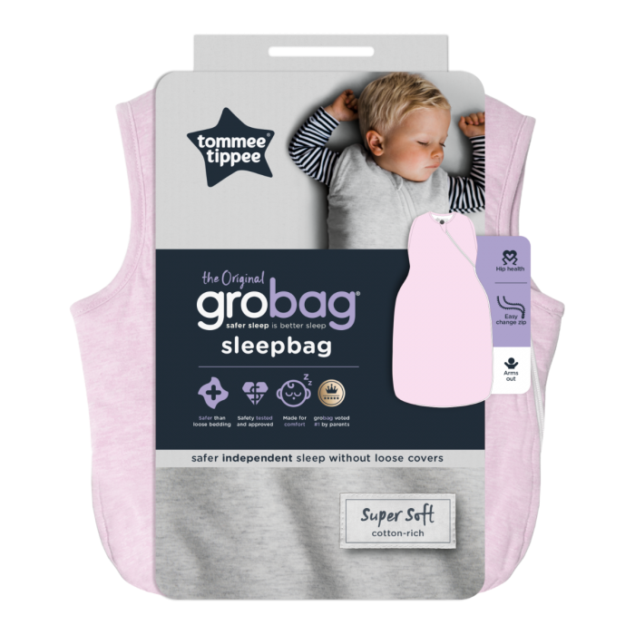 pink marl easy swaddle packaging