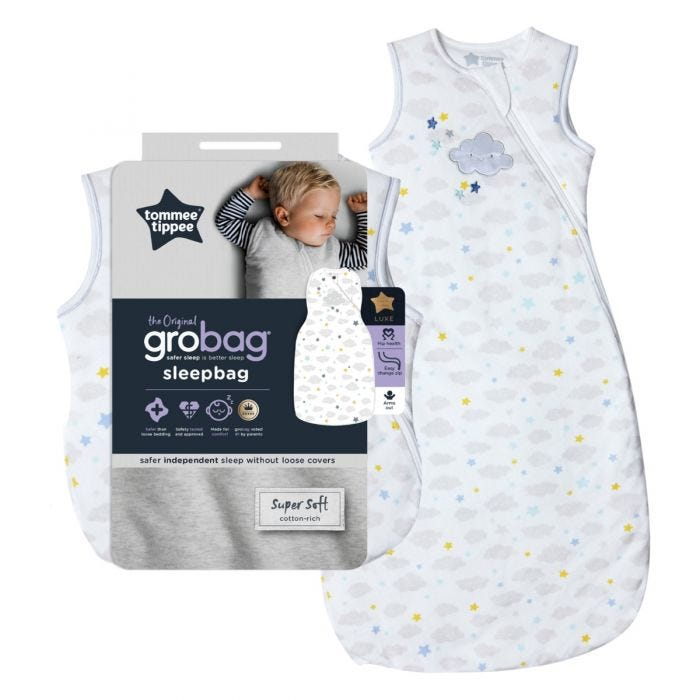 The Original Grobag Sleepy Sky Sleepbag with packaging
