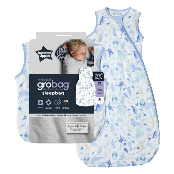The Original Grobag Animal Encyclopedia Sleepbag and packaging